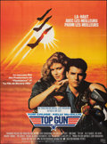 """Movie Posters:Action, Top Gun (Paramount, 1986). Folded, Very Fine+. Commercial French Grande (45"""" X 62""""). Action.. ..."""