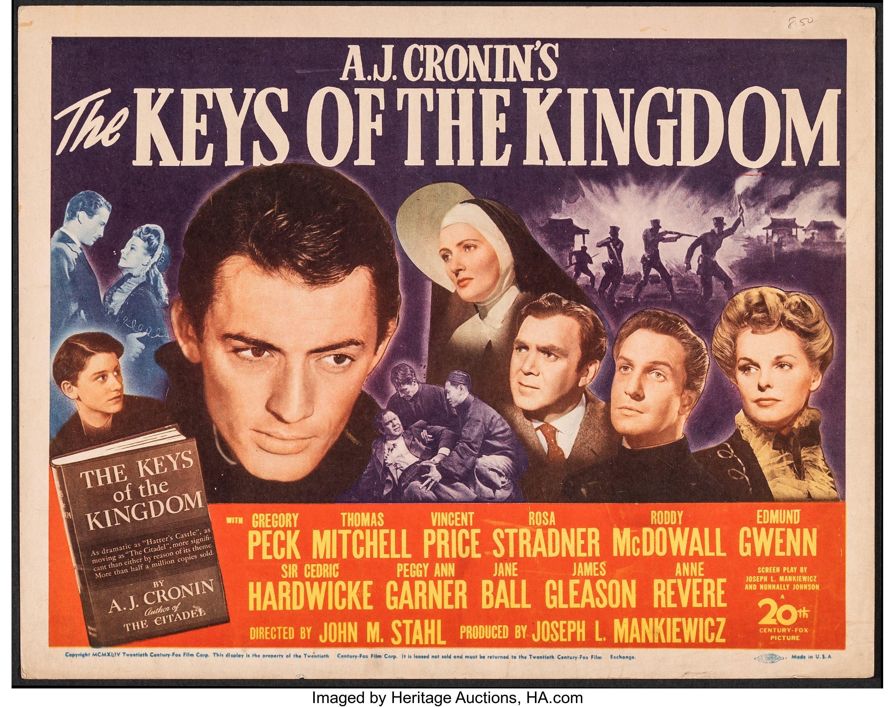 The Keys of the Kingdom (20th Century Fox, 1944). Very Fine-. Title | Lot  #52275 | Heritage Auctions