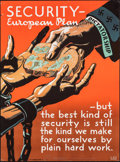 "World War II Propaganda (Think American Institute, 1943). Rolled, Fine/Very Fine. Full-Bleed Poster (20"" X 27""..."