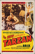 "Movie Posters:Serial, The New Adventures of Tarzan (Burroughs-Tarzan-Enterprise, 1935). Folded, Fine. One Sheet (27"" X 41""). Serial.. ..."