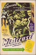 "Movie Posters:Documentary, We Accuse (Film Rights International, 1945). Folded, Fine. One Sheet (27"" X 41""). Documentary.. ..."