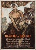 """Movie Posters:War, World War I Propaganda (United States Food Administration, 1917). Rolled, Fine/Very Fine. Poster No. 16 (21"""" X 29"""") """"Blood o..."""