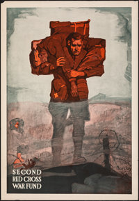 "World War I Propaganda (Red Cross of America, 1918). Rolled, Very Fine-. Poster (22"" X 32"") McClelland Barclay..."