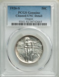 1926-S 50C Oregon -- Cleaned -- PCGS Genuine. Unc Details. Mintage 83,055....(PCGS# 9341)
