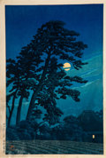 Prints & Multiples, Hasui Kawase (Japanese, 1883-1957) Moon at M...