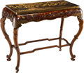 Furniture, A Japanese Lacquered and Partial Gilt Hardwood Table