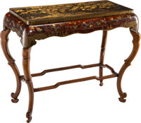 A Japanese Lacquered and Partial Gilt Hardwood Table 29-3/4 x 38 x 19 inches (75.6 x 96.5 x 48.3 cm)