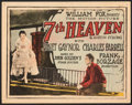 "Movie Posters:Romance, 7th Heaven (Fox, 1927). Fine+. Title Lobby Card (11"" X 14""). Romance.. ..."