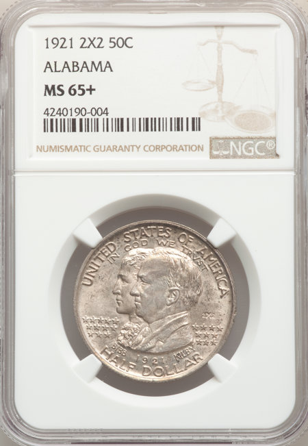 1921 50C Alabama 2X2, MS NGC Plus 65 NGC