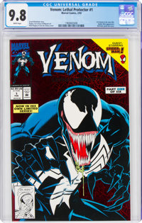 Venom: Lethal Protector #1 Red Holo-Grafx Foil Cover (Marvel, 1993) CGC NM/MT 9.8 White pages