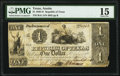 Austin, TX- Republic of Texas $1 Mar. 1, 1841 Cr. A1 Medlar 21 PMG Choice Fine 15