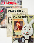 Magazines:Miscellaneous, Playboy 1955 Near Complete Year Group of 11 (HMH Publishing, 1954-55) Condition: Average FN-.... (Total: 11 Items)