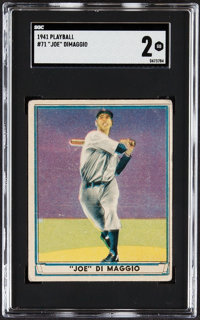 1941 Play Ball Joe DiMaggio #71 SGC Good 2