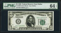 Fr. 1950-K $5 1928 Federal Reserve Note. PMG Choice Uncirculated 64 EPQ
