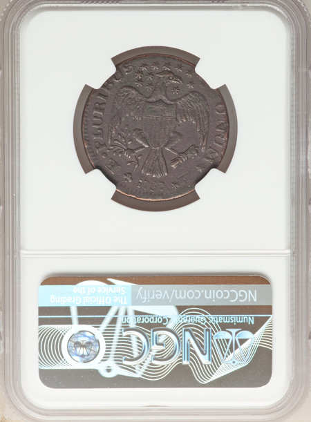 1787 New York Excelsior Copper, Eagle Right, BN 40 Details NGC