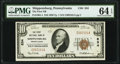 National Bank Notes:Pennsylvania, Shippensburg, PA - $10 1929 Ty. 1 The First National Bank Ch. # 834 PMG Choice Uncirculated 64 EPQ.. ...