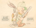 Animation Art:Limited Edition Cel, Robert McKimson - Bugs Bunny and Elmer Fudd Illustration Original Art (Warner Brothers, c. 1939)....