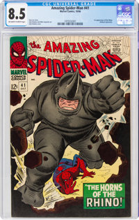 The Amazing Spider-Man #41 (Marvel, 1966) CGC VF+ 8.5 Off-white to white pages