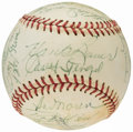 Autographs:Baseballs, 1956 New York Yankees Team Signed Baseball - World Series Champions (27 Signatures)....