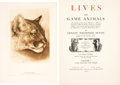 Books:Natural History Books & Prints, Ernest Thompson Seton. Lives of Game Animals. An Account of those Land Animals in America, North of the Mexican Bo... (Total: 4 Items)