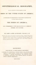 Books:Natural History Books & Prints, John James Audubon. Ornithological Biography, or an Account of the Habits of the Birds of the United States of America.... (Total: 5 Items)