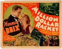 """Million Dollar Racket (Victory Pictures, 1937) Half Sheet (22"""" x 28"""") and Others Lot Group of 5. </..."""