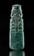 Pre-Columbian:Stone, A Magnificent Jade Axe God Pendant...
