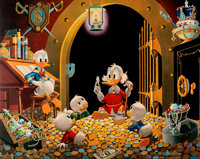Carl Barks This Dollar Saved My Life At Whitehorse Signed Limited Edition Lithograph Print #10/345 (Another Rainbo