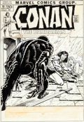 Original Comic Art:Covers, Gil Kane and John Romita Sr. Conan the Barbarian #18 Cover Original Art (Marvel, 1972)....