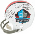 Football Collectibles:Helmets, Multi-Signed Full-Size Pro Football Hall of Fame Helmet. ...