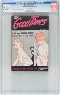 Good Times V1#3 (Good Times Publishing Co., 1953) CGC FN/VF 7.0 White pages