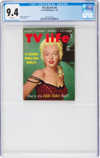 TV Life V1#3 Marilyn Monroe Cover (Crest Publishing, 1954) CGC NM 9.4 White pages