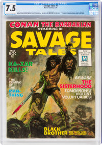 Savage Tales #1 (Marvel, 1971) CGC VF- 7.5 Off-white to white pages