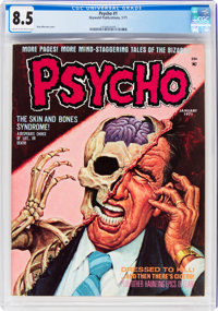 Psycho #1 (Skywald, 1971) CGC VF+ 8.5 Cream to off-white pages