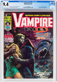 Vampire Tales #3 (Marvel, 1974) CGC NM 9.4 Off-white to white pages