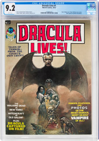 Dracula Lives! #1 (Marvel, 1973) CGC NM- 9.2 White pages
