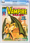 Magazines:Horror, Vampire Tales #8 (Marvel, 1974) CGC NM 9.4 Off-white to white pages....