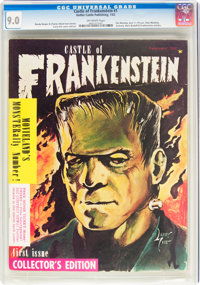 Castle of Frankenstein #1 (Gothic Castle Printing, 1962) CGC VF/NM 9.0 Off-white pages