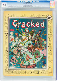 Cracked #1 (All-American, 1958) CGC VF- 7.5 Off-white to white pages