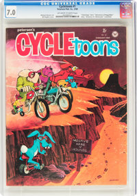 Cycletoons #1 (Petersen Publishing Co., 1968) CGC FN/VF 7.0 Off-white to white pages