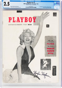 Playboy #1 Signed by Hugh Hefner (HMH Publishing, 1953) CGC GD+ 2.5 Off-white to white pages