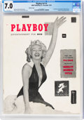 Magazines:Miscellaneous, Playboy #1 Red Star Copy (HMH Publishing, 1953) CGC FN/VF 7.0 White pages....