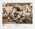 Football Collectibles:Others, Ice Bowl Quarterback Sneak Signed Limited Edition Print. ...