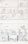 Original Comic Art:Miscellaneous, Jim Davis Garfield Sunday Comic Strip Preliminary Original Art Group of 52 (United Feature Syndicate, 1990).... (Total: 52 Original Art)