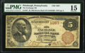 National Bank Notes:Pennsylvania, Pittsburgh, PA - $5 1882 Brown Back Fr. 467 The Exchange National Bank Ch. # 1057 PMG Choice Fine 15.. ...