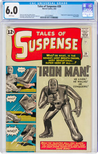 Tales of Suspense #39 (Marvel, 1963) CGC FN 6.0 White pages