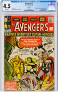 Silver Age (1956-1969):Superhero, The Avengers #1 UK Edition (Marvel, 1963) CGC VG+ 4.5 White pages....