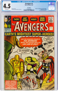 The Avengers #1 UK Edition (Marvel, 1963) CGC VG+ 4.5 White pages