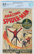 Silver Age (1956-1969):Superhero, The Amazing Spider-Man #1 UK Edition (Marvel, 1963) CBCS VG+ 4.5 Off-white to white pages....