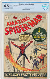 The Amazing Spider-Man #1 UK Edition (Marvel, 1963) CBCS VG+ 4.5 Off-white to white pages